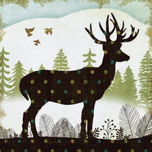 Wall mural - Woodland Dwellers Deer Dots