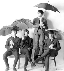 Wall mural - The Beatles - Umbrellas