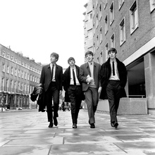 Lerretsbilde - The Beatles - Sidewalk