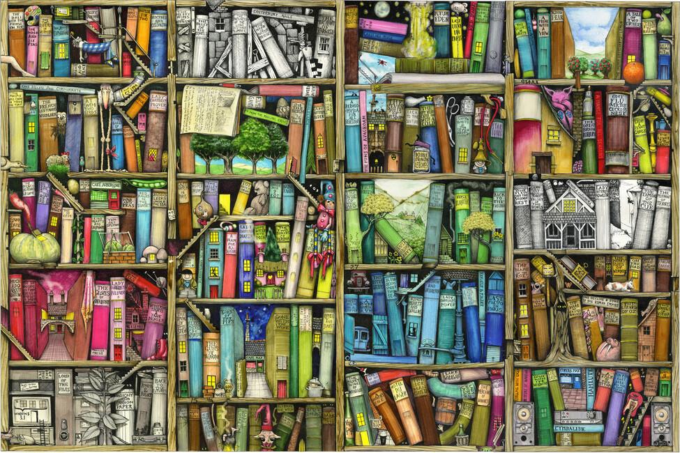 Fantasy Bookshelf - Wall Mural & Photo Wallpaper - Photowall