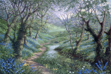 Canvas-taulu - Spring River Path