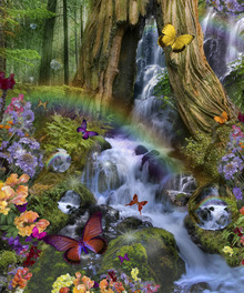 Canvas print - Woodland Forest Fairyland