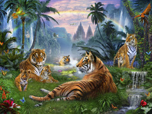 Wall Mural - Temple Lake Tigers