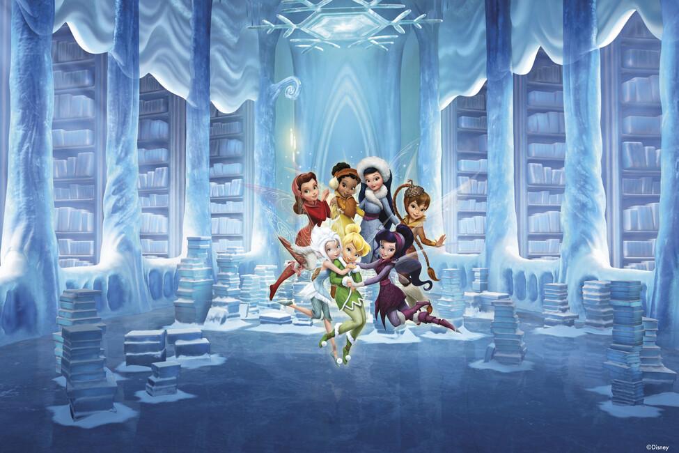 Fairies icy library wall mural photo wallpaper for Fairies wall mural