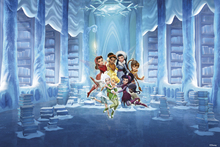 Fototapet - Fairies - Icy Library