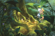 Fototapet - Fairies - Root of the Tree