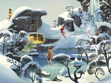 Wall mural - Fairies - Frozen Pond