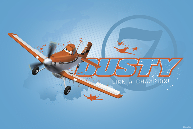 Planes dusty champion wall mural photo wallpaper for Disney planes wallpaper mural