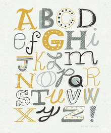 Wall mural - Funky Letters