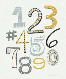 Wall mural - Funky Numbers