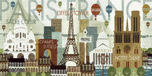 Canvas print - Hello Paris