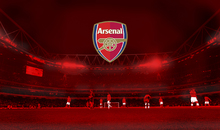 Wall mural - Arsenal - Emblem on Red Stadium