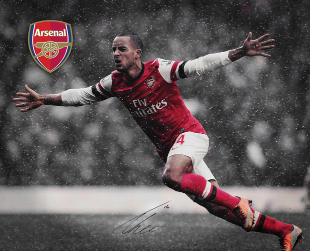 Arsenal f c walcott reigns wall mural photo for Arsenal mural wallpaper