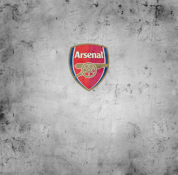 Arsenal f c emblem on concrete background wall mural for Arsenal mural wallpaper