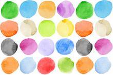 Fototapet - Watercolour Dots