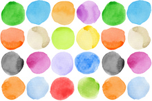 Canvas print - Watercolour Dots
