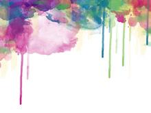 Fototapet - Colour Drips