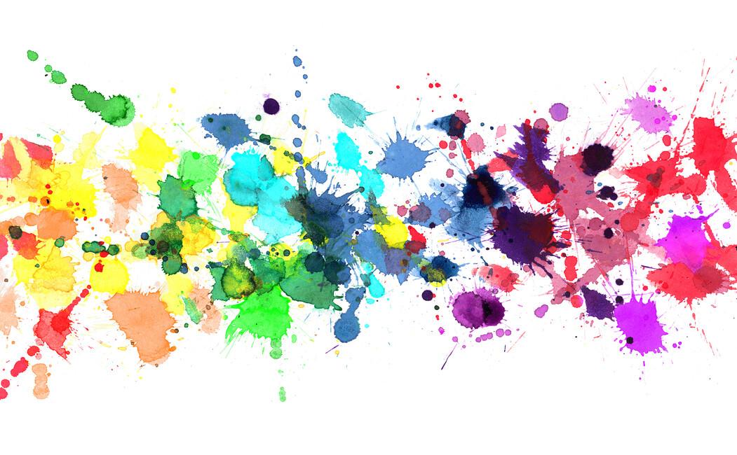 Free Photo Watercolors Rainbow Colors Lilac: Canvas Print & Canvas Art