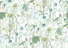 Wallpaper - Summer Meadow - Green