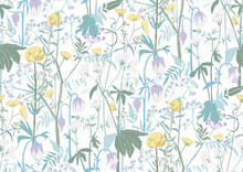 Wallpaper - Summer Meadow - Blue