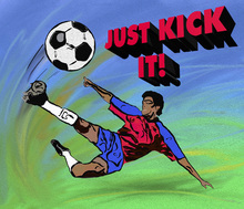 Mural de pared - Just Kick It