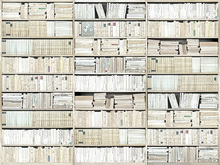 Fototapet - Bookshelf - White