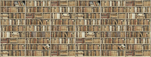 Wall mural - Bookshelf - Wooden - Long - Beige
