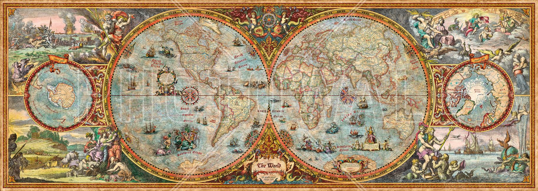 Hemisphere Map Wall Mural Amp Photo Wallpaper Photowall