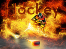 Canvas-taulu - Hockey Heat