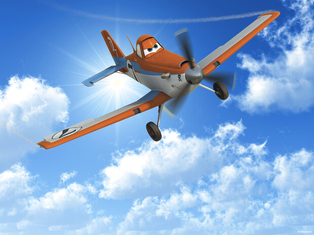 Planes dusty in the sky wall mural photo wallpaper for Disney planes wall mural