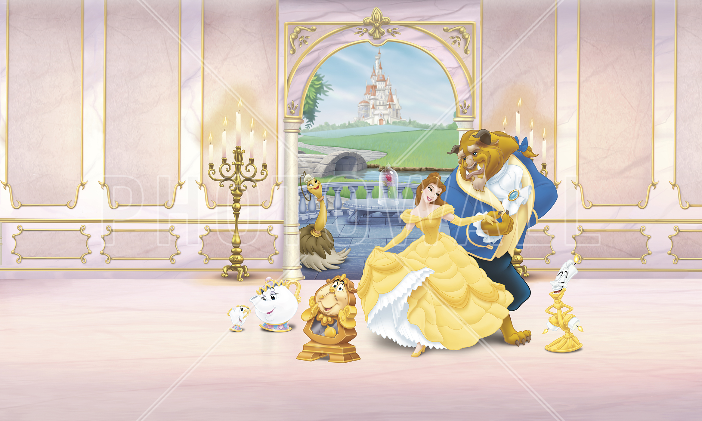 High Quality Wall Mural   Princess   Beauty And The Beast Part 11