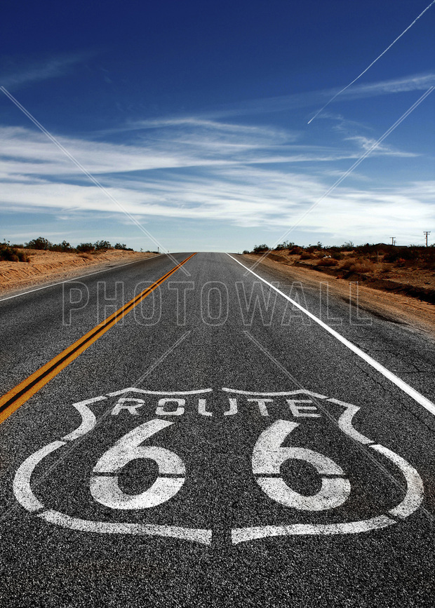 Route 66 On the Road Again - Fototapeter ...