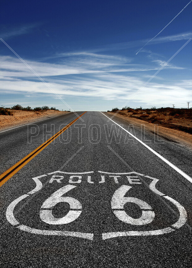 Route 66 on the road again wall mural photo wallpaper for Route 66 mural
