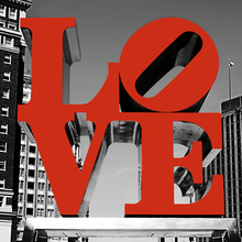 Canvas print - Love Philly