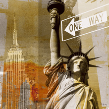 Canvas print - New York One Way