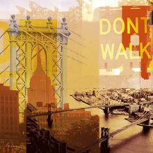 Canvas print - New York Dont Walk
