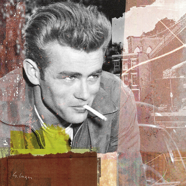 james dean xv bilder auf leinwand photowall. Black Bedroom Furniture Sets. Home Design Ideas