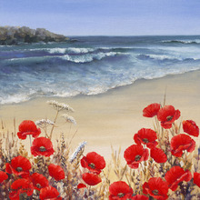 Canvas print - Poppy Tides