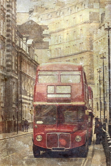 Leinwandbild - London Bus Route 9