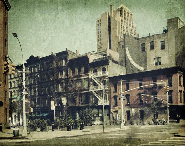 new york city sixth avenue fototapeten tapeten. Black Bedroom Furniture Sets. Home Design Ideas
