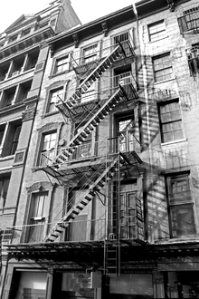 Wall mural - New York City - Fire Escape