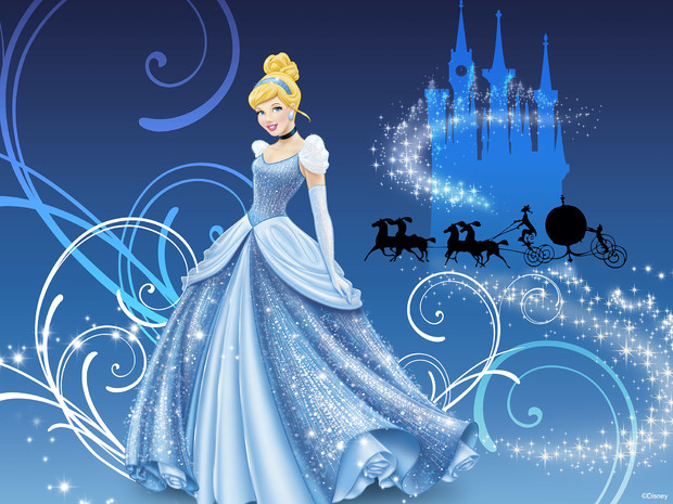 Disney princess cinderella wall mural photo for Disney princess wallpaper mural