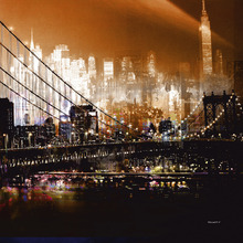 Fototapet - Brooklyn Bridge by Night