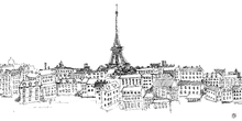 Fototapet - Avery Tillmon - Paris Skyline