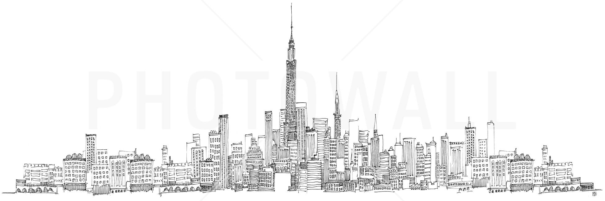 avery tillmon new york skyline fototapeten tapeten photowall. Black Bedroom Furniture Sets. Home Design Ideas
