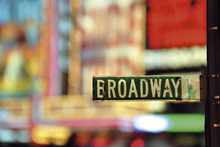 Fototapet - On Broadway