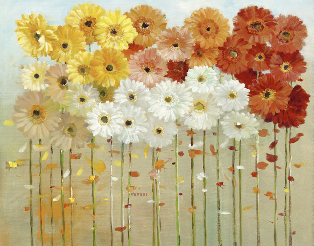 Daisies fall wall mural photo wallpaper photowall Where did daisies originate