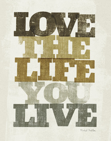 Canvas print - Live and Love II
