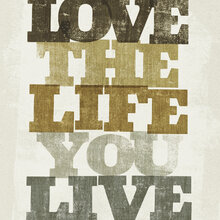 Wall mural - Live and Love II