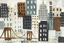Wall mural - New York Skyline Collage - Grey II